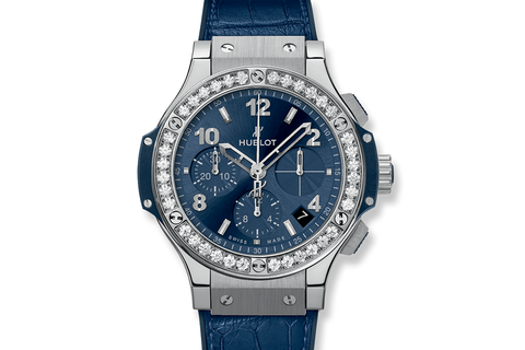 Hublot Classic Fusion Aerofusion 45mm Titanium Pavé - Titanium & Diamond on Black Leather w/ Diamond Bezel