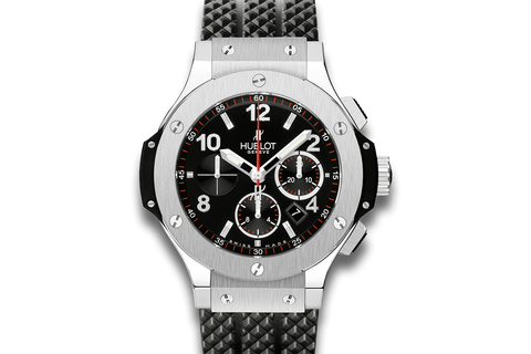 Hublot Big Bang 44mm Steel - Stainless Steel on Black Structured Rubber