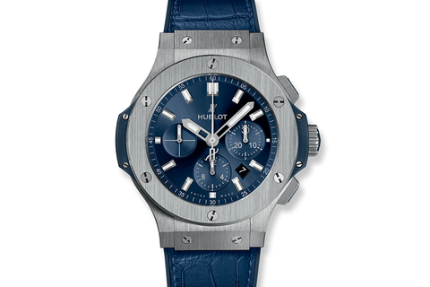 Hublot Big Bang 44mm Steel Blue - Stainless Steel on Blue Leather