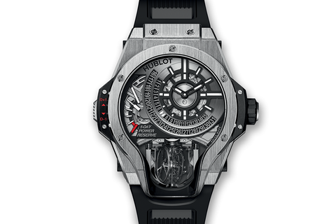 Hublot MP-09 Tourbillon Bi-Axis Titanium - Titanium on Black Rubber