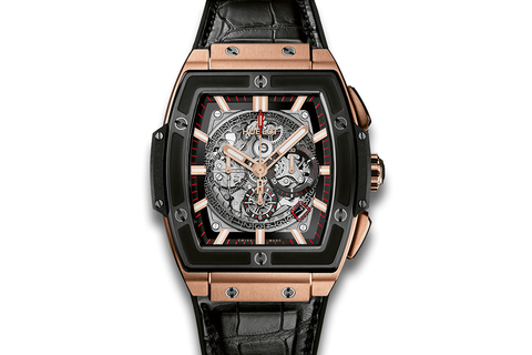 Hublot Spirit of Big Bang King Gold Ceramic - King Gold on Black Leather w/ Ceramic Bezel