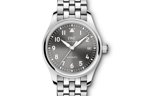 IWC Pilot's Watch Automatic 36 - Stainless Steel on Bracelet - Grey Dial