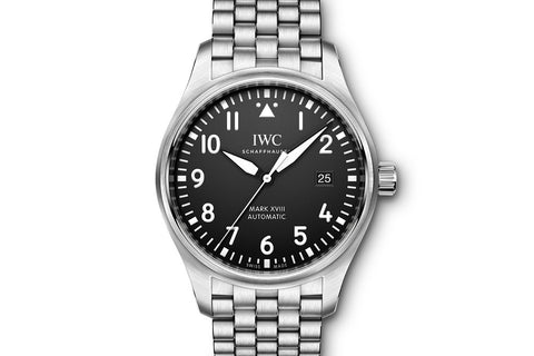 IWC Pilot's Watch Mark XVIII - Stainless Steel on Bracelet - Black Dial