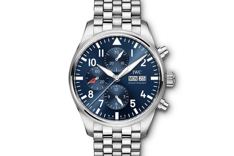"IWC Pilot's Watch Chronograph ""Le Petit Prince"" Edition - Stainless Steel on Bracelet - Blue Dial"