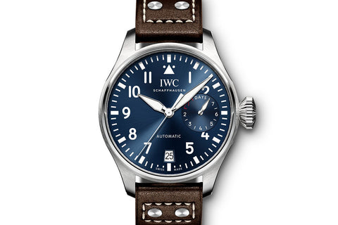 "IWC Big Pilot's Watch ""Le Petit Prince"" Edition - Stainless Steel on Brown Leather - Blue Dial"