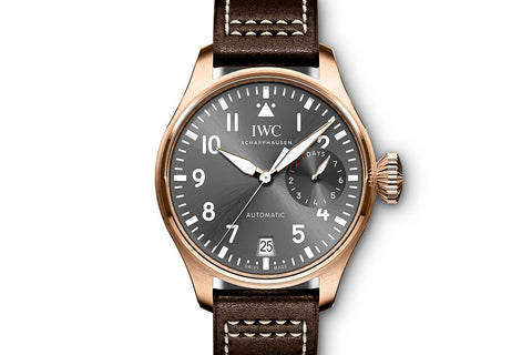 IWC Big Pilot's Watch Spitfire - Rose Gold on Brown Leather - Grey Dial