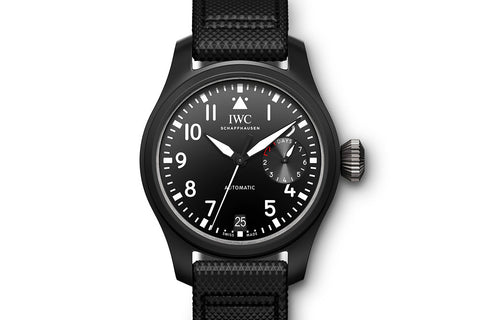 IWC Big Pilot's Watch Top Gun - Ceramic on Black Leather - Black Dial