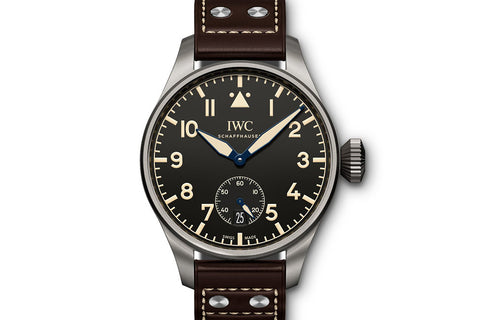 IWC Big Pilot's Watch Heritage 48 - Titanium on Brown Leather - Black Dial