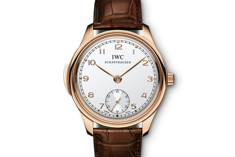 IWC Portugieser Minute Repeater - Rose Gold on Brown Leather - Silver Dial