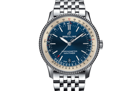 Breitling Navitimer 1 Automatic 38 - Stainless Steel on Bracelet - Blue Dial