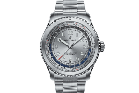 Breitling Navitimer 8 B35 Automatic Unitime 43 - Stainless Steel on Bracelet - Silver Dial