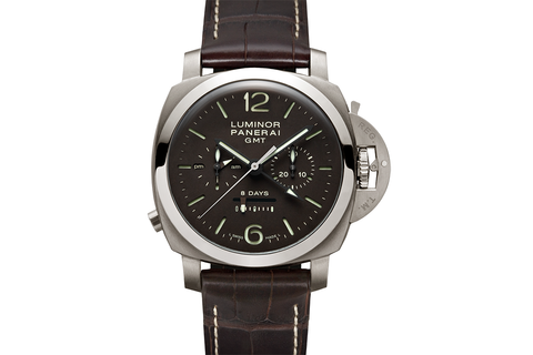 Officine Panerai Luminor 1950 8 Days GMT Chrono Monopulsante Titanio - 44mm (PAM 311)