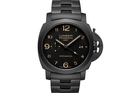 Officine Panerai Luminor 1950 3 Days GMT Automatic Ceramica Tuttonero - 44mm (PAM 438)