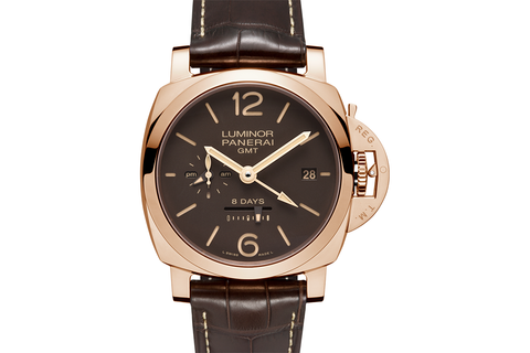 Officine Panerai Luminor 1950 8 Days GMT Oro Rosso - 44mm (PAM 576)