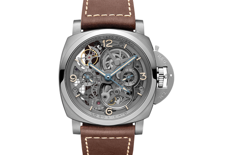 Officine Panerai LO SCIENZIATO - Luminor 1950 Tourbillon GMT Titanio - 47mm (PAM 578)