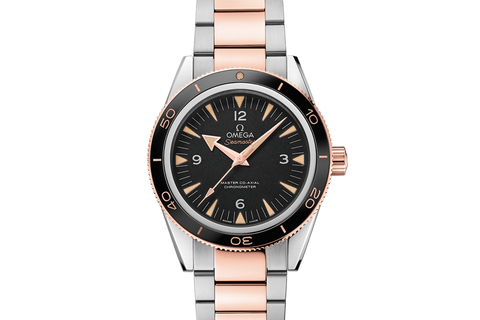 Omega Seamaster 300 Co-Axial 41mm Stainless Steel & 18K Rose Gold on Bracelet - Black Dial