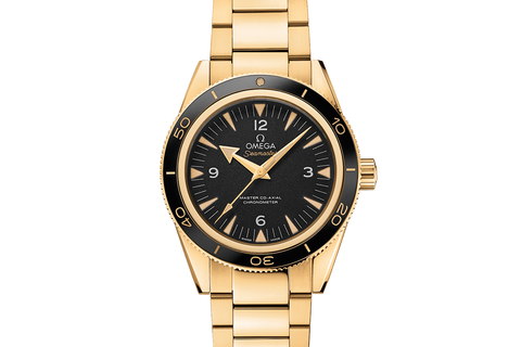 Omega Seamaster 300 Co-Axial 41mm 18K Yellow Gold on Bracelet - Black Dial