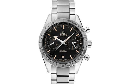 Omega Speedmaster '57 Co-Axial Chronograph 41.5mm Stainless Steel on Bracelet - Black Broad Arrow Dial