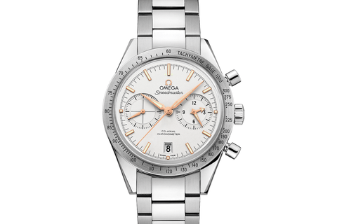 Omega Speedmaster '57 Co-Axial Chronograph 41.5mm Stainless Steel on Bracelet - Silver Dial