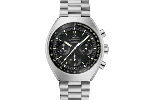 Omega Speedmaster Mark II Co-Axial Chronograph 42.4 x 46mm Stainless Steel on Bracelet - Black Dial