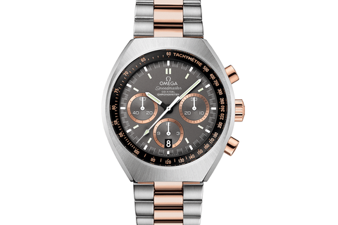 Omega Speedmaster Mark II Co-Axial Chronograph 42.4 x 46mm Stainless Steel & 18K Rose Gold on Bracelet - Grey Dial