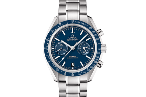 Omega Speedmaster Moonwatch Co-Axial Chronograph 44.25mm Titanium on Bracelet - Blue Dial