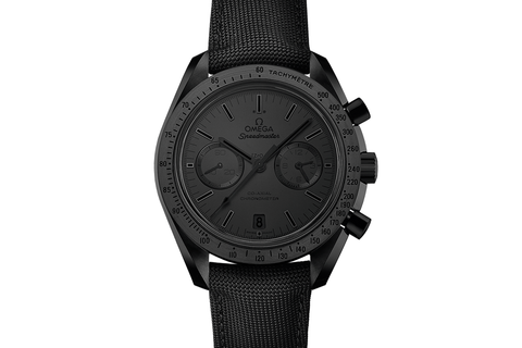 Omega Speedmaster Moonwatch Co-Axial Chronograph 44.25mm Black Ceramic on Black Nylon - Matte Black Dial