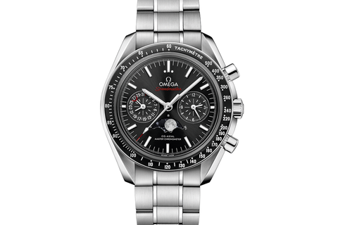 Omega Speedmaster Moonwatch Co-Axial Master Chronometer Moonphase Chronograph 44.25mm Stainless Steel on Bracelet - Black Dial