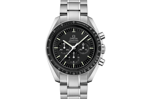 Omega Speedmaster Moonwatch Professional Chronograph 42mm Stainless Steel on Bracelet - Black Dial w/ Hesalite