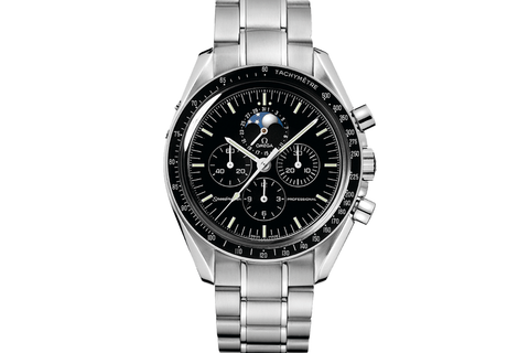 Omega Speedmaster Moonwatch Professional Moonphase Chronograph 42mm Stainless Steel on Bracelet - Black Dial