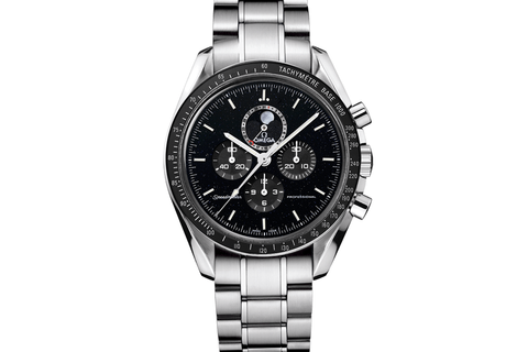 Omega Speedmaster Moonwatch Professional Moonphase Chronograph 44.25mm Stainless Steel on Bracelet - Black Dial