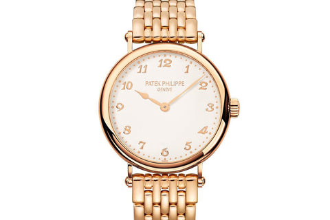 Patek Philippe Calatrava Ladies 7200/1R-001 - Rose Gold on Bracelet - Silver Dial