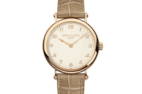 Patek Philippe Calatrava Ladies 7200R-001 - Rose Gold on Beige Leather - Cream Dial