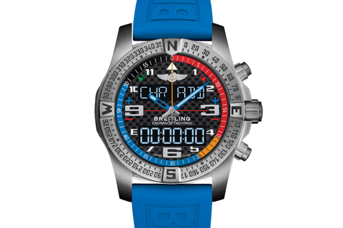 Breitling Professional Exospace B55 Yachting - Titanium on Blue Rubber - Carbon Dial