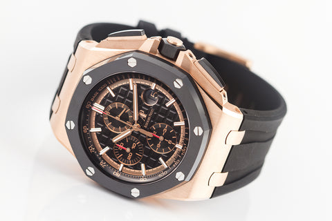 Audemars Piguet Royal Oak Offshore Chronograph 44mm 18K Rose Gold on Black Rubber - Black Dial