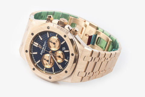 Audemars Piguet Royal Oak Chronograph 41mm 18K Rose Gold on Bracelet - Blue Dial