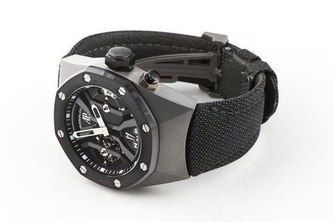 Audemars Piguet Royal Oak Concept GMT Tourbillon Titanium on Black Kevlar