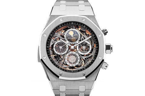 Audemars Piguet Royal Oak Grande Complication 44mm Openworked Titanium on Bracelet - Black Skeleton Dial