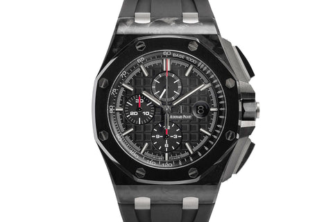 Audemars Piguet Royal Oak Offshore Chronograph Carbon on Black Rubber - Black Dial