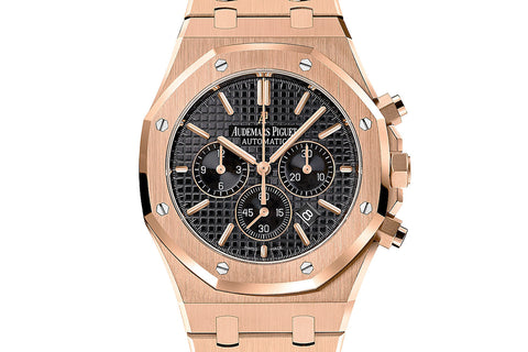 Audemars Piguet Royal Oak Chronograph 41mm Rose Gold on Bracelet - Black Dial