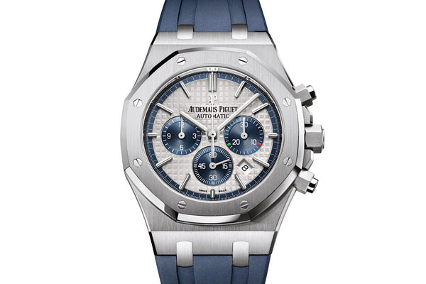 9ea3c55474865 Audemars Piguet Royal Oak Chronograph 41mm Stainless Steel on Blue Rub –  Authentick