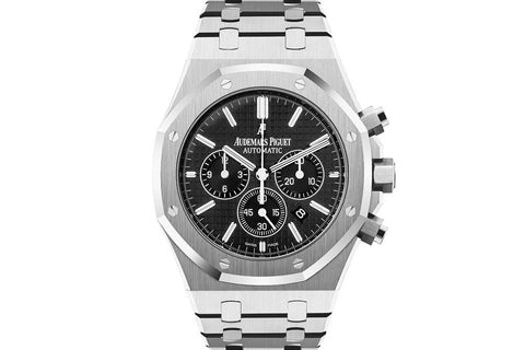 Audemars Piguet Royal Oak Chronograph 41mm Stainless Steel on Bracelet - Black Dial