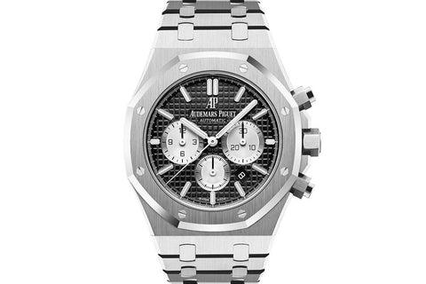 Audemars Piguet Royal Oak Chronograph 41mm Stainless Steel on Bracelet - Black & White Dial