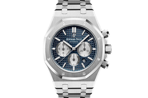 Audemars Piguet Royal Oak Chronograph 41mm Stainless Steel on Bracelet - Blue & White Dial