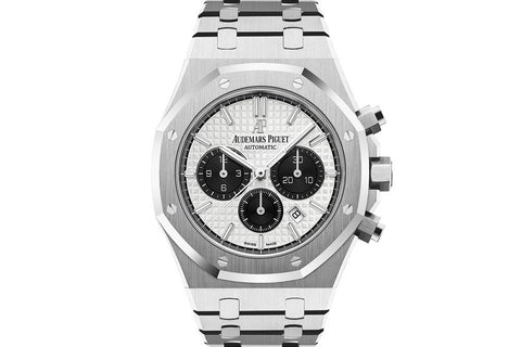 Audemars Piguet Royal Oak Chronograph 41mm Stainless Steel on Bracelet - White & Black Dial