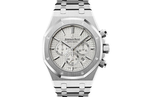 Audemars Piguet Royal Oak Chronograph 41mm Stainless Steel on Bracelet - White Dial