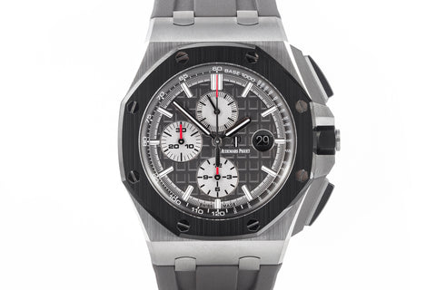Audemars Piguet Royal Oak Offshore Chronograph 44mm Titanium on Grey Rubber - Grey Dial