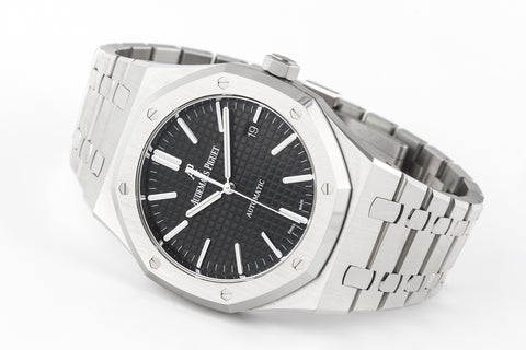 Audemars Piguet Royal Oak Selfwinding 41mm Stainless Steel on Bracelet - Black Dial
