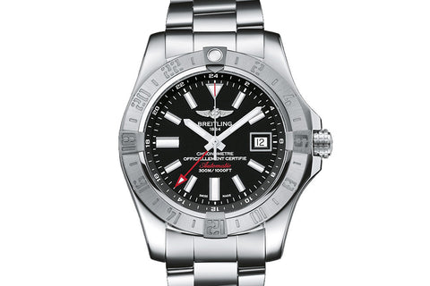 Breitling Avenger II GMT on Bracelet - Black Dial