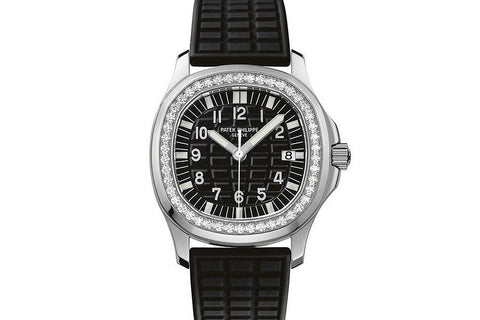 Patek Philippe Aquanaut Ladies 5067A-001 - Stainless Steel on Black Rubber - Black Dial w/ Diamond Bezel